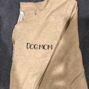 Beige dog mom Henley shirt